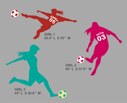 LARGE Soccer Girl Wall Decal Personalized with Name by Round321