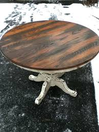 rustic wood round dining table outstanding reclaimed wood round dining table stylish
