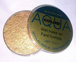 details about kryolan aquacolor gold metallic makeup large cake 3 oz new bodypaint facepaint