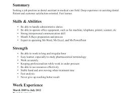Dental Assistant Resume Objective Entry Level Dental Assistant Resume Objective Objectives Examples 91