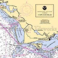 Florida Cape San Blas St Joseph Bay Nautical Chart Decor
