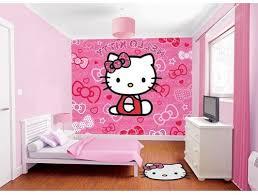 Bedroom with Hello Kitty Wallpaper Idea