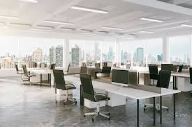 modern open plan interior office space. 9 Questions To Ask When Choosing The Right Office Space | Haussmann Design Build Workplace Solutions Modern Open Plan Interior I