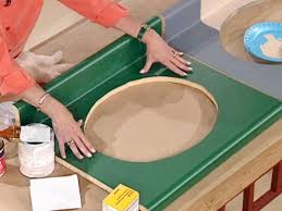 how to paint a bathroom countertop