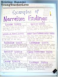 Chart Narrative Examples Writing Narrative Endings Narrative Writing Middle School
