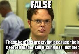 Meme Maker - FALSE These koreans are crying because their beloved ... via Relatably.com