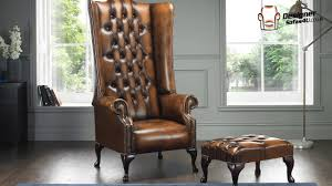 Designer Wing Chair Chesterfield Soho 1780s Leather High Back Wing Chair Designer Sofas 4u