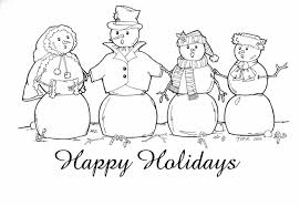 Small Picture Happy Holidays Coloring Page Coloring Home