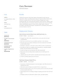 Resume Template Executive Assistant Real Estate Assistant Resume Templates 2019 Free Download