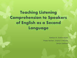 Презентация к дипломной работе teaching listening comprehension  Презентация teaching listening comprehension to speakers of english as a second language
