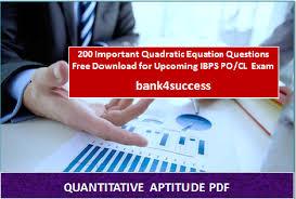 200 important quadratic equation