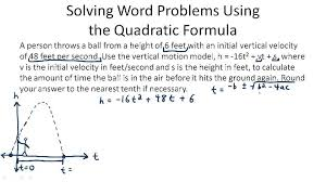 solving word problems quadratic equations tessshlo worksheets