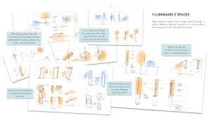 office lighting plan.  plan dual home office luminaire and lighting plan