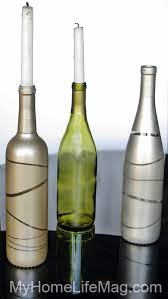 give your home a modern look with metallic bottles