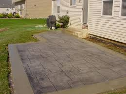 concrete patio floor front yard small stamped concrete patio flooring completed with small patio furni