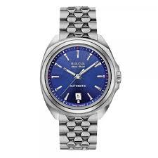 men s bulova watch blue dial accuswiss automatic stainless men s bulova watch blue dial accuswiss automatic stainless steel bezel case and bracelet