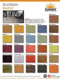 Sundeks Sunstain Sunh20 Color Chart Sundek Concrete