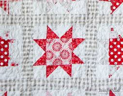 Simple Sawtooth Star Quilt Pattern - Honeybear Lane & sawtooth star quilt up close Adamdwight.com
