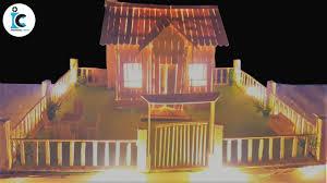 How To Make Led Lights Stick How To Make A Popsicle Stick House With Led Lighting Diy House With Led Light
