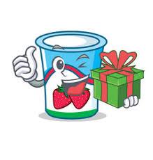 Image result for cartoon images of soy yogurt