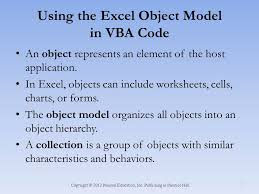 Excel and VBA Creating an Excel Application - ppt video online ...