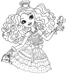 Small Picture Free Printable Ever After High Coloring Pages Madeline Hatter