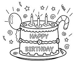 Happy Birthday Color Pages Happy Birthday Coloring Pages Free