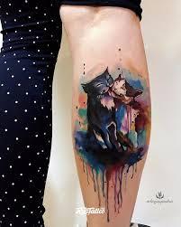 фото татуировки котики в стиле акварель цветная татуировки на