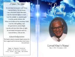 Free Funeral Program Card Templates