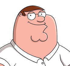 peter griffin family guy cleft chin detail
