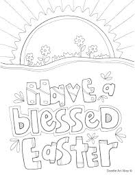 Free Religious Easter Coloring Pages Davidstyleinfo