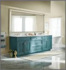 brushed nickel mirror. Large Brushed Nickel Mirror Bathroom Blue Vanity Rug In White