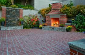 Outdoor Brick Paver Patio Designs Elegant Red Brick Patio Captivating Traditional Design Also