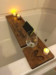 bathtub wine caddy live love laugh and drink wine bath wine glass holder wine gifts for