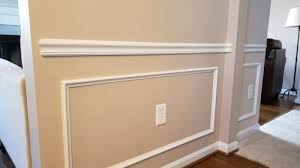 use paint to extend chair moulding to