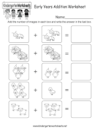 There's nothing like seeing the faces of young children light up when they begin to grasp early education. Early Years Addition Worksheet Free Kindergarten Math Worksheet For Kids