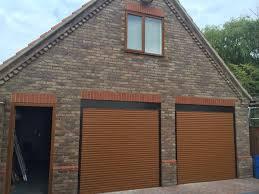 golden oak diy roller shutter garage door
