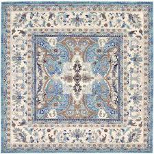 tradition elizabeth light blue 8 4 x 8 4 square rug