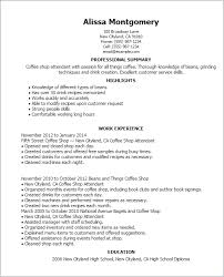 Professional Coffee Shop Attendant Templates To Showcase Your Talent