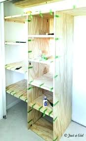 awesome how to build closet shelf clothes rod in bypass door building plywood and diy wire