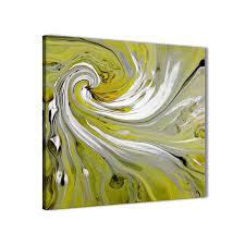 modern lime green swirls modern abstract canvas wall art modern 79cm square 1s351l for your dining display gallery item 1  on lime green wall art pictures with lime green swirls modern abstract canvas wall art modern 79cm