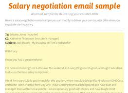 Salary Negotiation Email Salary Negotiation Email Sample Recent Letter Example After Job