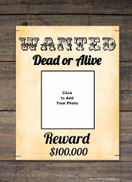 Make A Wanted Poster Free Online Free Wanted Poster Maker Make A Free Printable Wanted