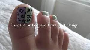 Spring/Summer Leopard Toe Nail Design Tutorial - YouTube
