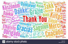 Word Thank You Thank You Illustration Word Cloud In Different Languages Stock Photo