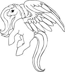 Small Picture Beautiful Pegasus Coloring Page NetArt