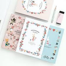 k kbook cute notebook a6 paper cartoon rabbit hardcover notebooks and journals planner agenda 2018 supplies