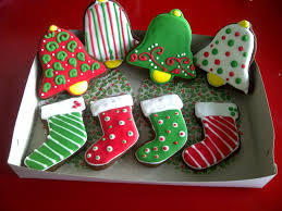 christmas bell sugar cookies. Fine Bell Christmas Bell And Stockings To Sugar Cookies
