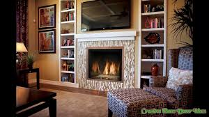 electric fireplace with tv above ideas