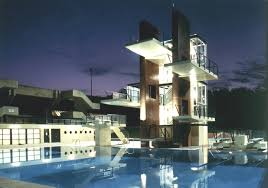 indoor pool house with diving board. Professional Diving Tower Night Indoor Pool House With Board